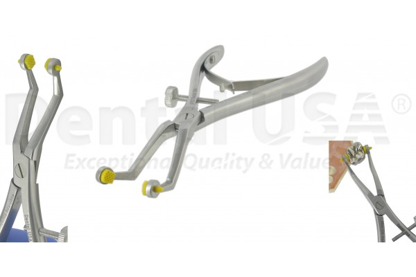 CROWN REMOVING PLIERS, YELLOW SLICONE TIPS  CROWN INSTRUMENTS