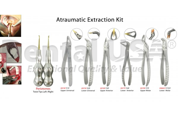 EXTRACTION KIT_A-TRAUMATIC EXTRACTION FORCEPS & POWER TWIST PERIOTOMES