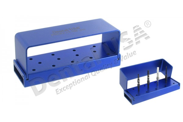 ENDO CASSETTE  13 TIPS BUR STAND, (3.0in X 1.0in X 0.8in)