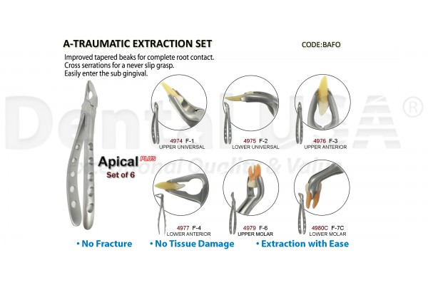 A-TRAUMATIC EXTRACTION FORCEP SET (6EA)
