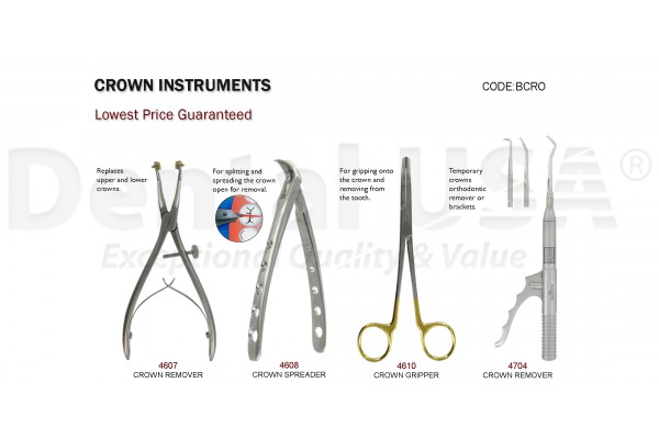 CROWN INSTRUMENTS SET OF 4