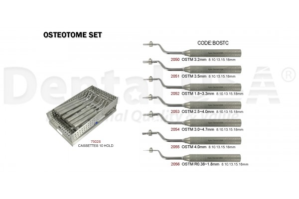 OSTEOTOME  OFFSET SET (7EA) (With 13mm handle)