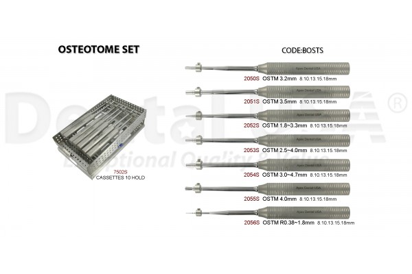OSTEOTOME STRAIGHT SET (7EA)