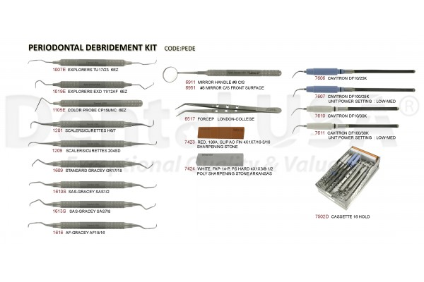 PERIODONTAL DEBRIDEMENT KIT