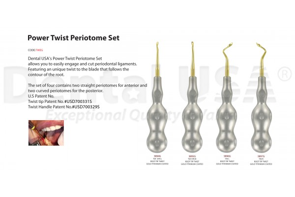 POWER TWIST PERIOTOMES 4mm SET (4EA)-TWEG-4030