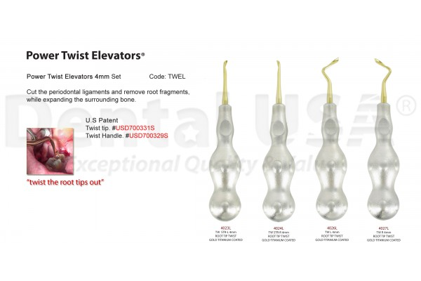 POWER TWIST ELEVATOR 4mm HEAVY DUTY SET-TWEL-4031