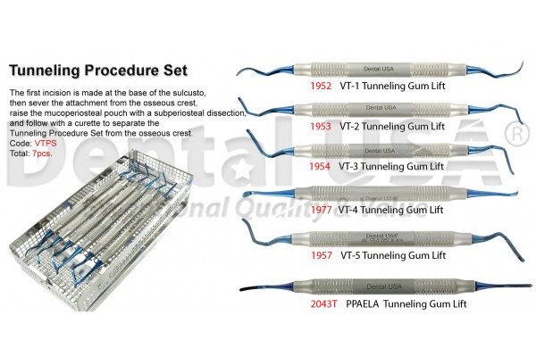 TUNNELING PROCEDURE SET OF 7