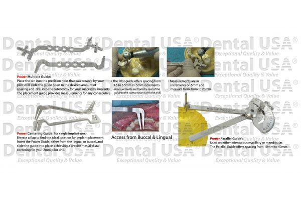 POWER IMPLANT GUIDE KIT (5PCS)