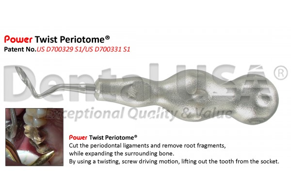 POWER TWIST PERIOTOME 4mm POSTERIOR, TW-LEFT STAINLESS STEEL-LIMITED TIME OFFER
