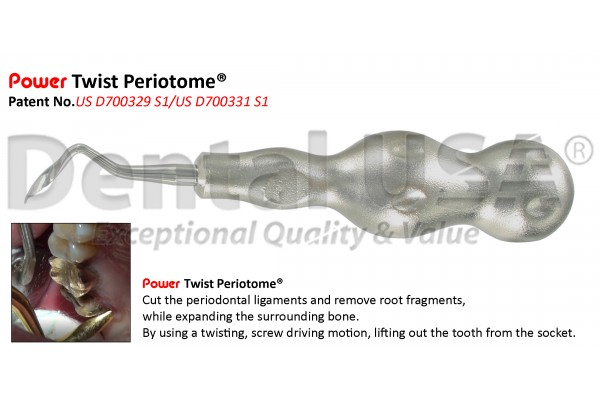 POWER TWIST PERIOTOME 4mm POSTERIOR, TW-RIGHT STAINLESS STEEL-LIMITED TIME OFFER