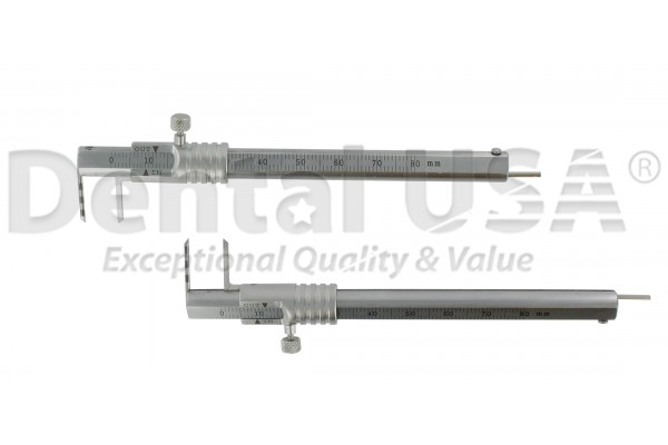IMPLANT CALIPER.   TEETH SIZE, SOCKET SIZE, DEPTH GAUGE, DIAGNOSTIC PROBE.