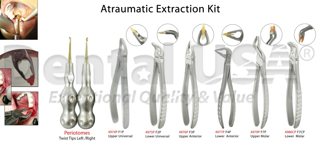 Extraction Kit A Traumatic Extraction Forceps Power Twist Periotomes