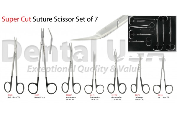 SUPER CUT SUTURE SCISSOR SET OF 7