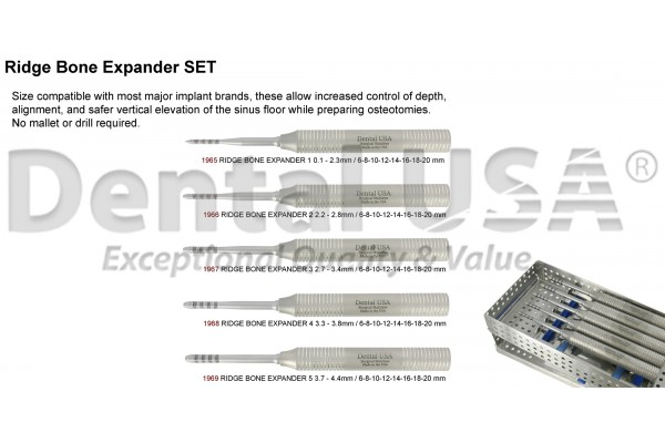 RIDGE BONE EXPANDER KIT (5PCS)